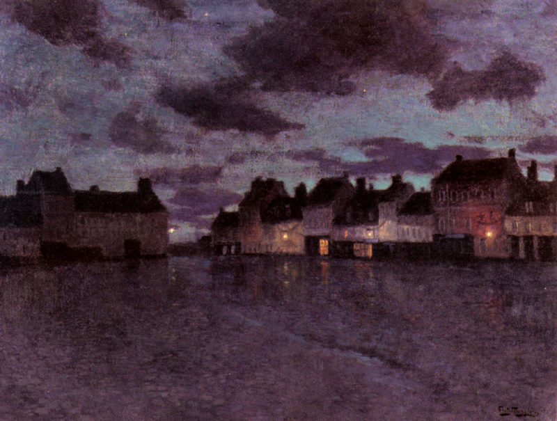 Marketplace In France After A Rainstorm | Frits Thaulow | Oil Painting