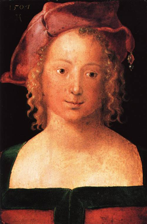Portrait of a Girl in a Red Barett 1507 | Albrecht Durer | Oil Painting