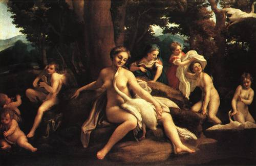 Leda and the Swan 1531 2 | Antonio Allegri called Il Correggio | Oil Painting