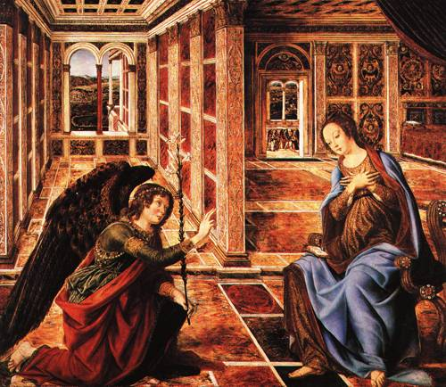 The Annunciation 1470 | Antonio del Pollaiuolo | Oil Painting