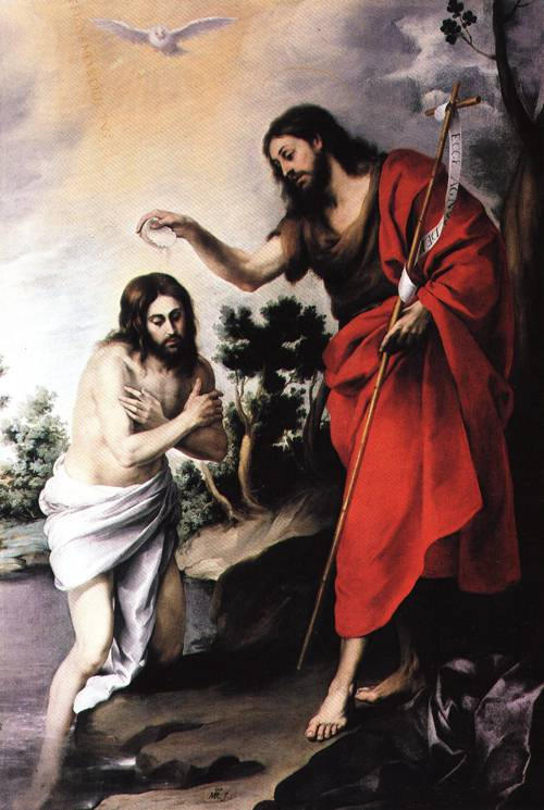 The Baptism of Christ 1655 | Bartolome Esteban Murillo | Oil Painting