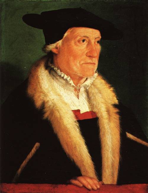 Portrait of Sebastian Munster Cosmographer 1552 | Christoph Amberger | Oil Painting