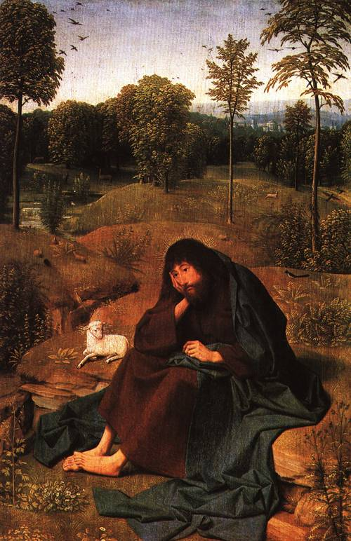 John the Baptist in the Wilderness | Geertgen tot Sint Jans | Oil Painting