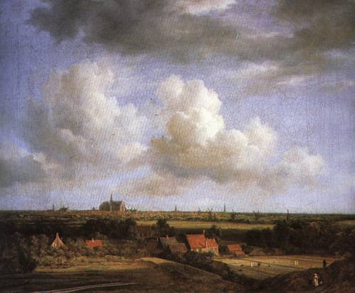 Landscape with a View of Haarlem 1670 5 | Jacob van Ruidael | Oil Painting