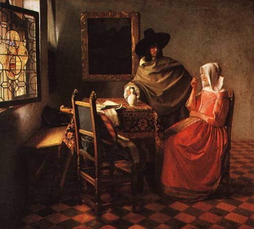The Glass of Wine 1660 1 | Jan Vermeer van Delft | Oil Painting