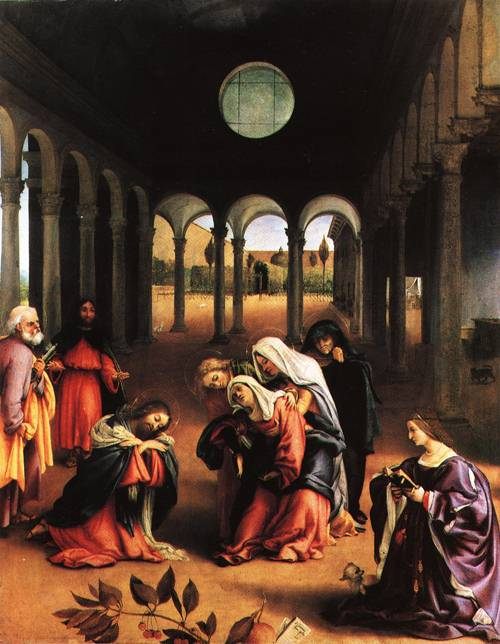 Christ Taking Leave of His Mother 1521 | Lorenzo Lotto | Oil Painting