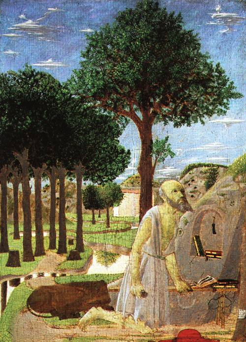 Landscape with St Jerome Penitent 1450 | Piero della Francesca | Oil Painting
