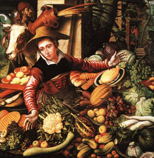 Marketwoman at a Vegetable Stand 1567 | Pieter Aertsen | Oil Painting