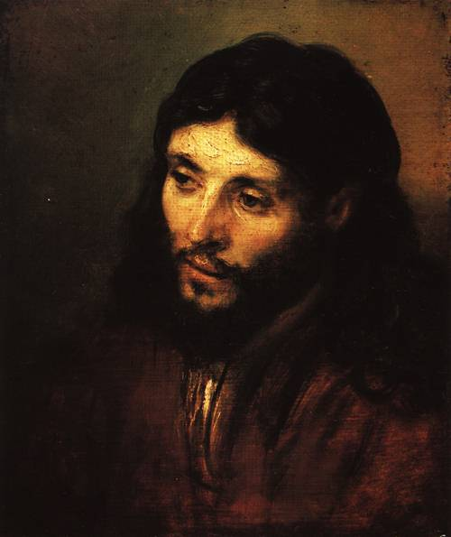 Head of Christ 1655 | Rembrandt | Oil Painting