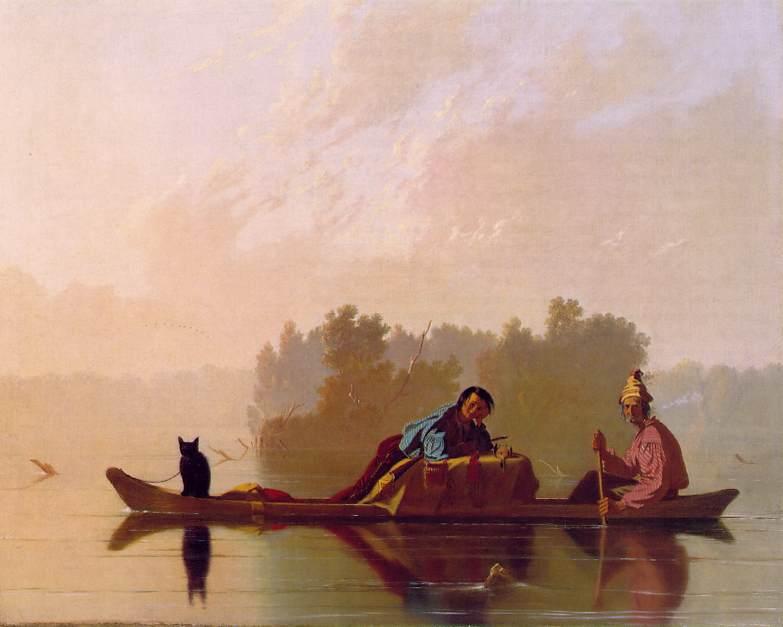 Fur Traders Descending the Missouri 1845 | George Caleb Bingham | Oil Painting
