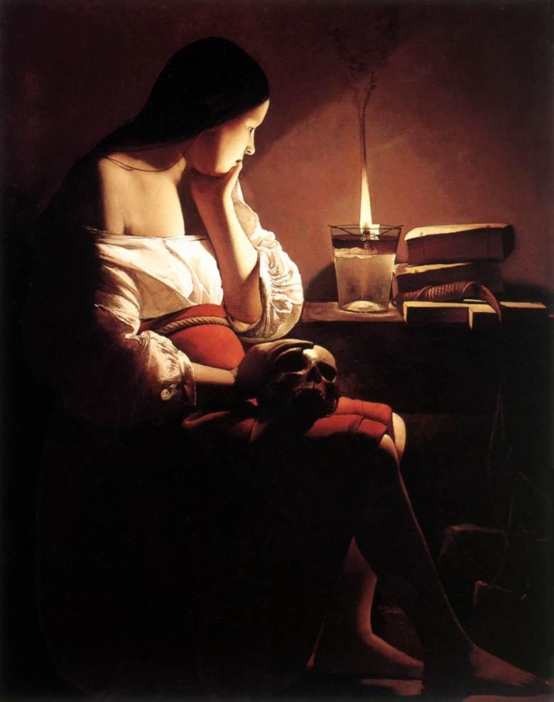 The Penitent Magdalen 1638-43 | Georges De La Tour | Oil Painting