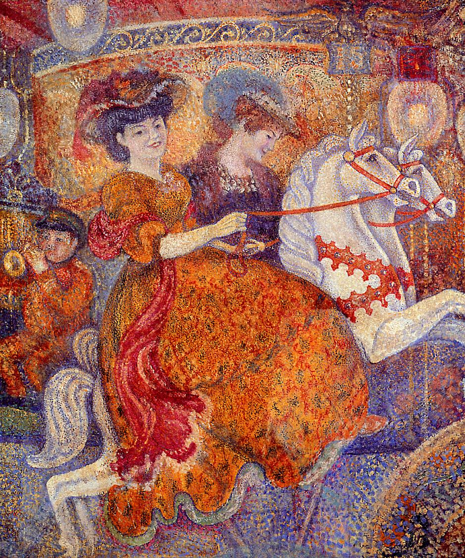 Carnival The Carousel 1890-1892   Georges Lemmen   Oil Painting