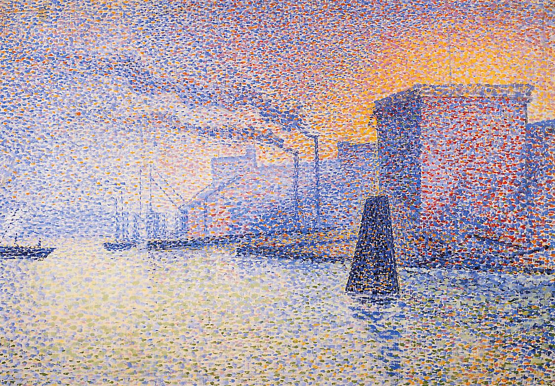 Factories on the Thames 1892-1894 | Georges Lemmen | Oil Painting