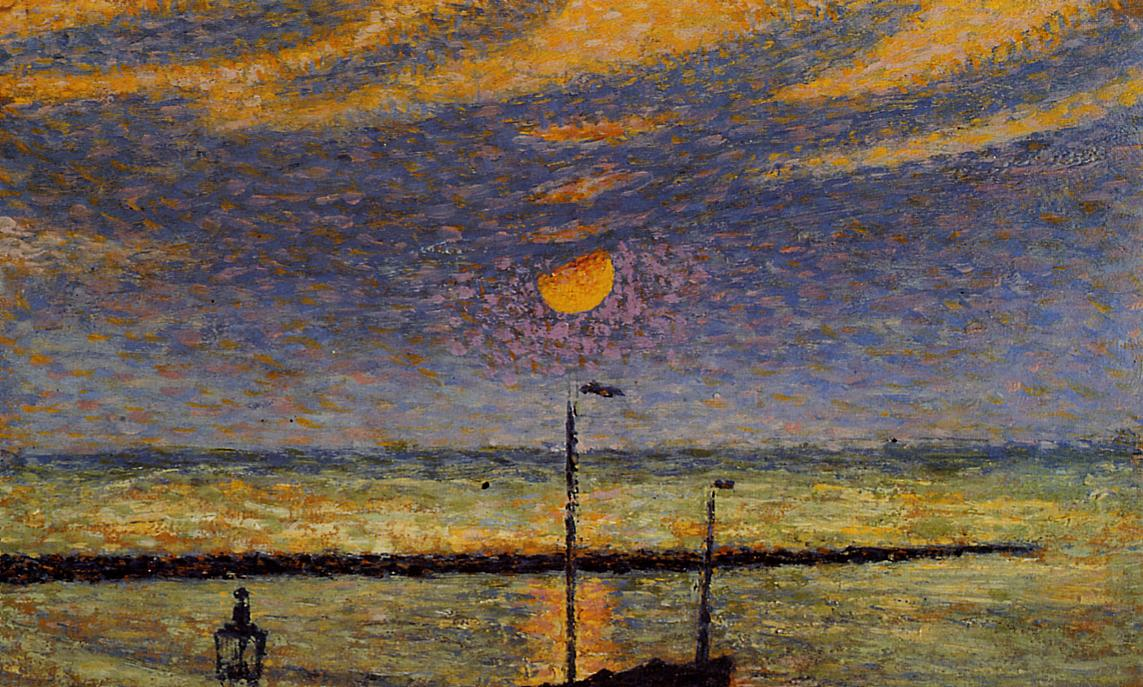 Heyst No.19 Clear Night Moon 1891 | Georges Lemmen | Oil Painting