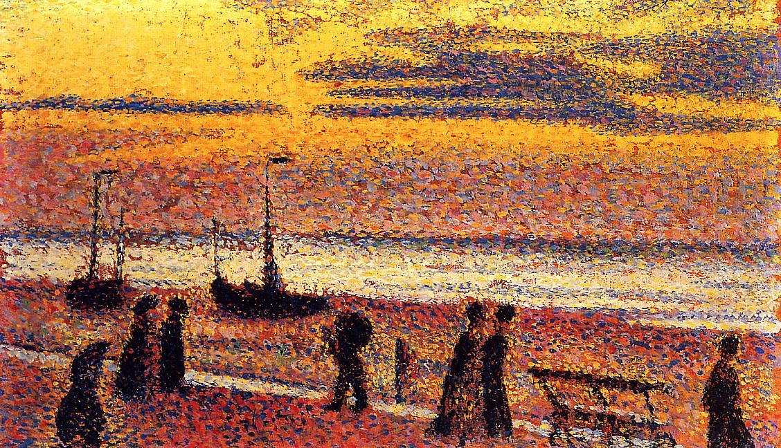 Heyst No.3 High Tide 1891 | Georges Lemmen | Oil Painting