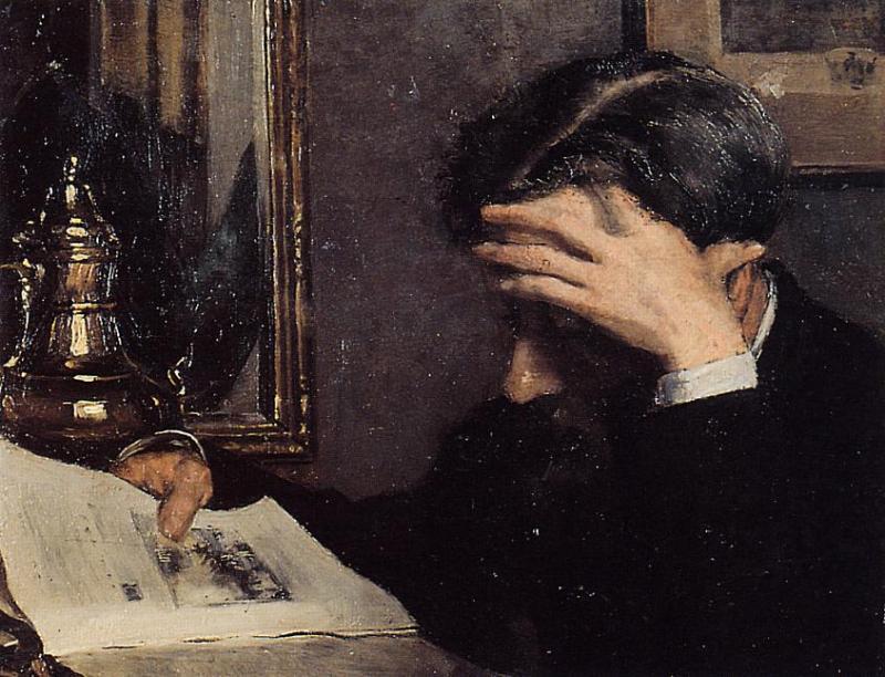 Man Reading 1883-1884 | Georges Lemmen | Oil Painting
