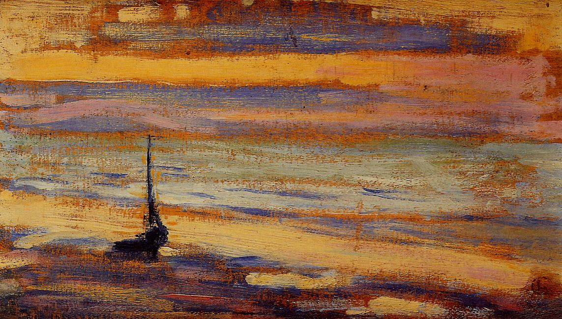 Neyst No.9 The Beach 1891   Georges Lemmen   Oil Painting