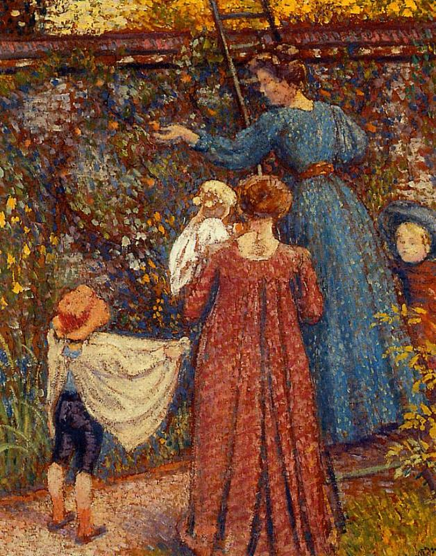 Picking Fruit (No.2) 1906 | Georges Lemmen | Oil Painting