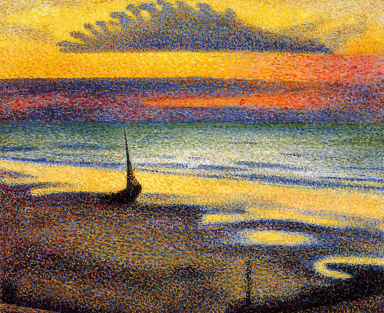 Sunset on the Beach 1891 | Georges Lemmen | Oil Painting
