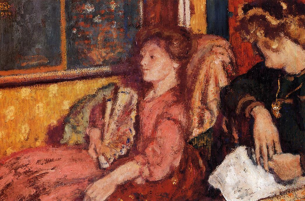 The Talk (aka Two Women in an Interior) 1904   Georges Lemmen   Oil Painting