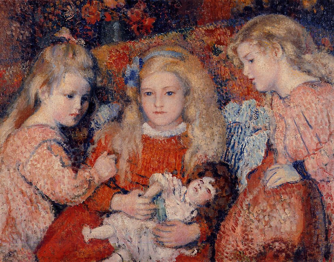 Three Little Girls 1907 | Georges Lemmen | Oil Painting