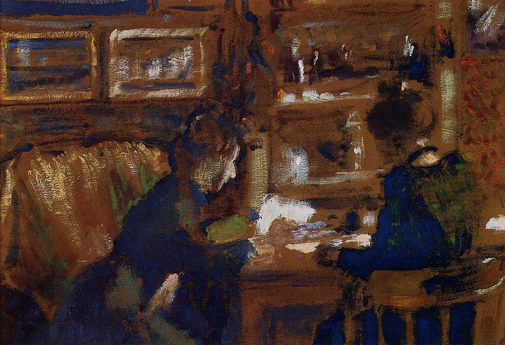 Two Women in an Interior 1903   Georges Lemmen   Oil Painting