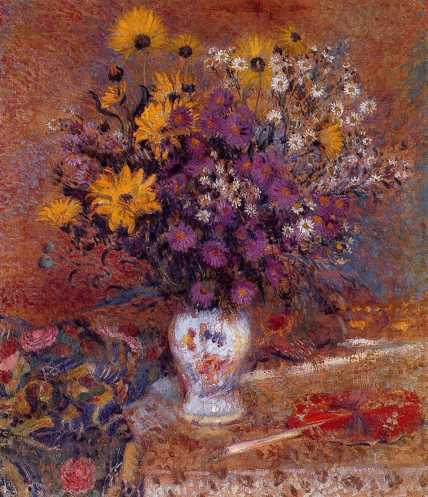 Vase of Flowers 1905-1910   Georges Lemmen   Oil Painting