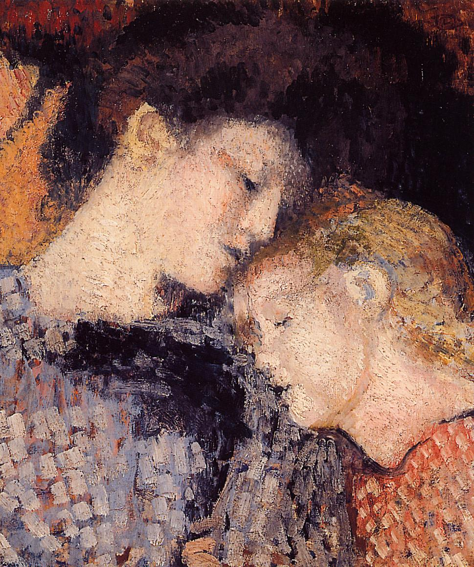 Woman and Child 1907   Georges Lemmen   Oil Painting