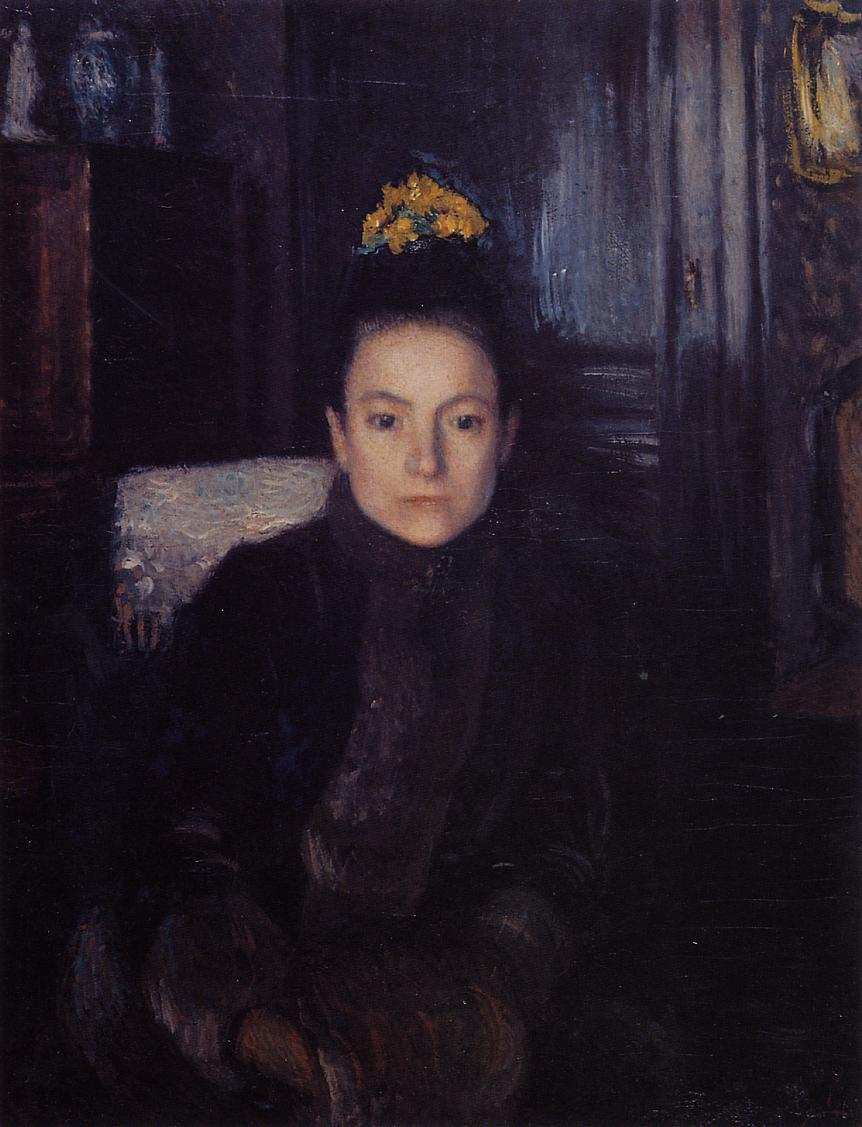 Woman in Street Clothes 1889   Georges Lemmen   Oil Painting