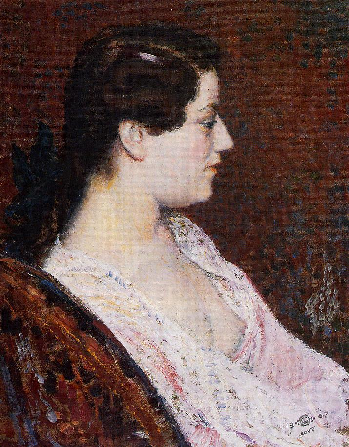Woman with Bared Breast 1907   Georges Lemmen   Oil Painting