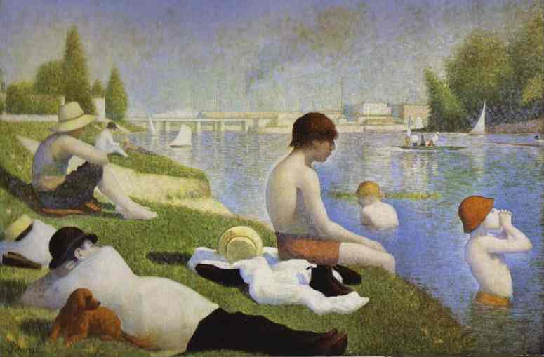Bathers At Asnieres 1883-84 | Georges Seurat | Oil Painting