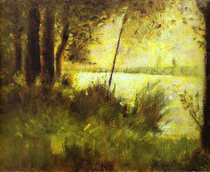 Grassy Hill 1881-82 | Georges Seurat | Oil Painting