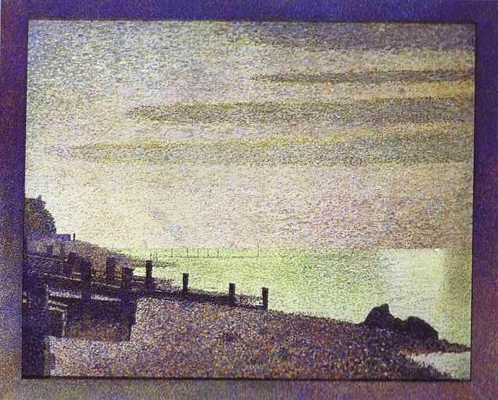 Honfleur Evening 1886 | Georges Seurat | Oil Painting
