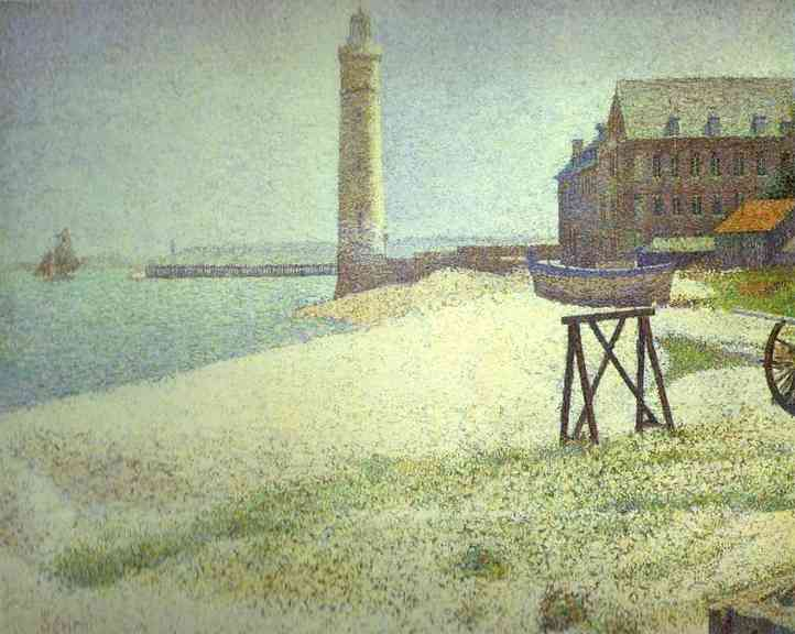 Hospice And Lighthouse Honfleur 1886 | Georges Seurat | Oil Painting