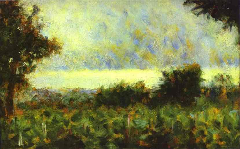 Landsacape 1882-83 | Georges Seurat | Oil Painting