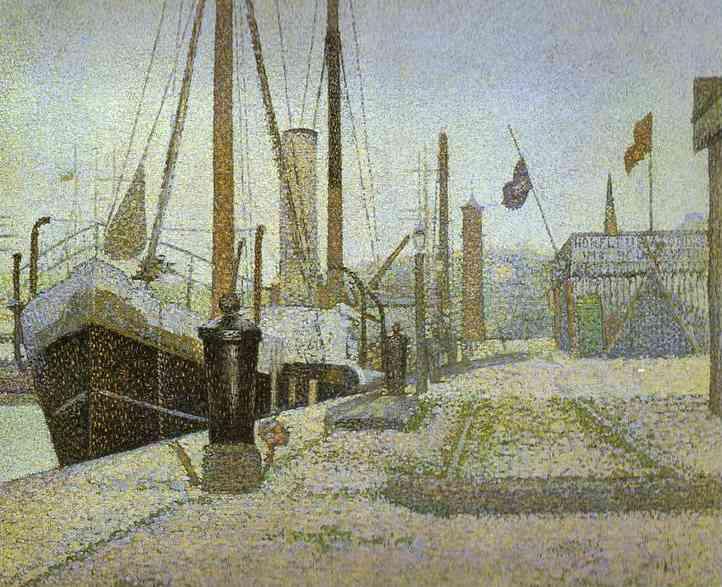 La Maria Honfleur 1886 | Georges Seurat | Oil Painting