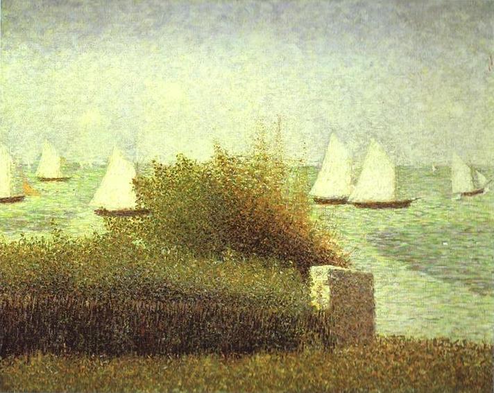La Rade De Grandcamp 1885 | Georges Seurat | Oil Painting