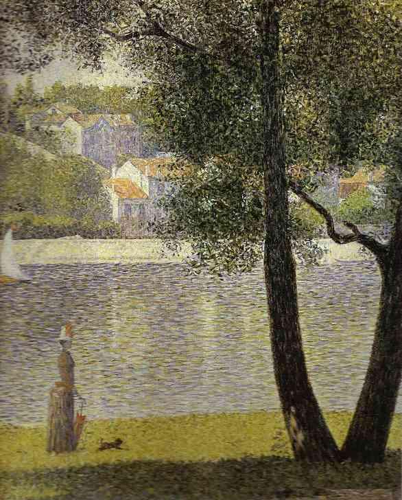 La Siene A Courbevoie 1885-86 | Georges Seurat | Oil Painting