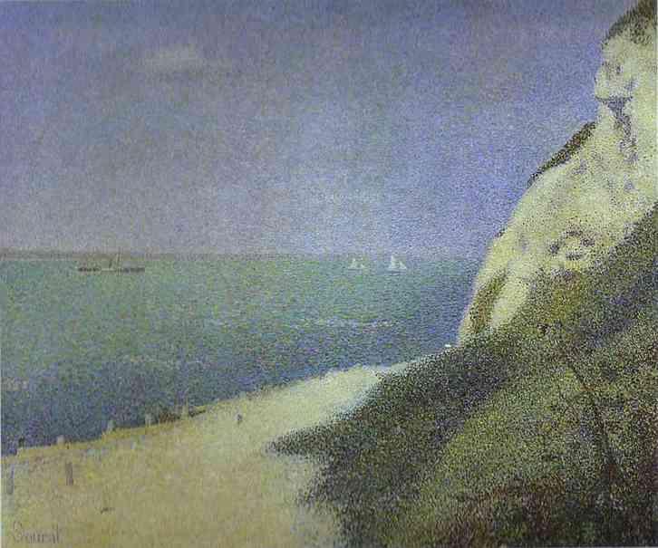 Les Bas Butin Honfleur 1886 | Georges Seurat | Oil Painting