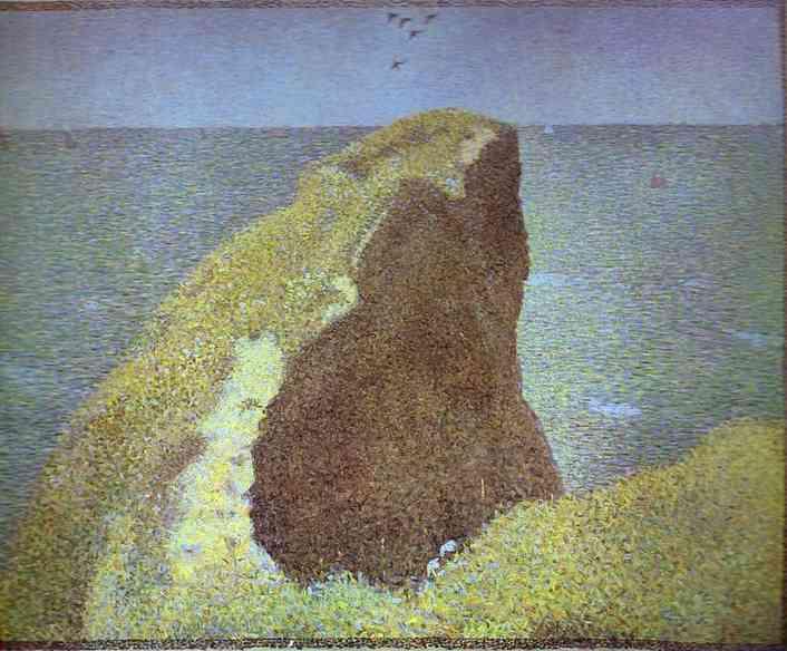 Le Bec Du Hoc Grandcamp 1885 | Georges Seurat | Oil Painting