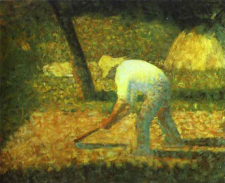 Peasant With A Hoe 1882 | Georges Seurat | Oil Painting