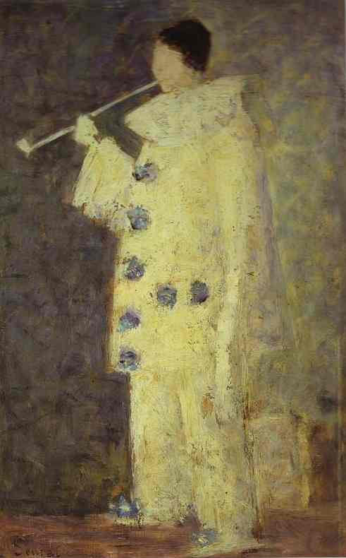 Pierrot With A White Pipe (Aman Jean) 1883 | Georges Seurat | Oil Painting