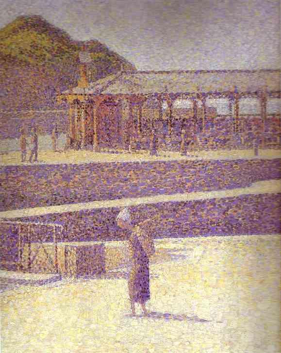 Port En Bessin Detail 2 1888 | Georges Seurat | Oil Painting