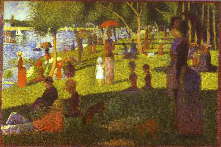 Study For A Sunday On La Grande Jatte 1884 | Georges Seurat | Oil Painting