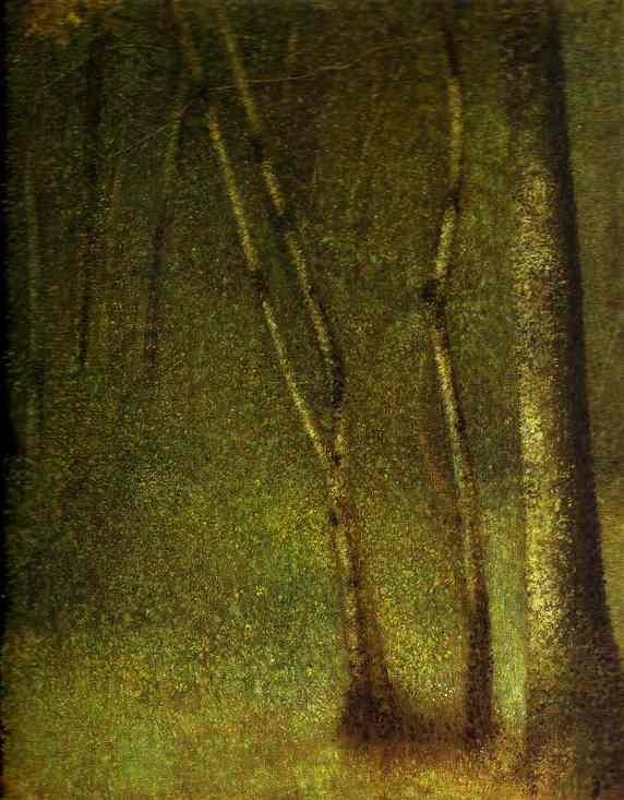 The Forest At Pontaubert 1881-82 | Georges Seurat | Oil Painting