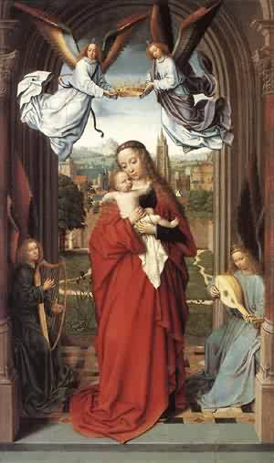 Virgin And Child With Four Angels 1505 | Gerard David | Oil Painting