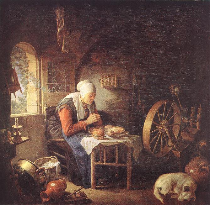 The Prayer Of The Spinner | Gerrit Dou | Oil Painting