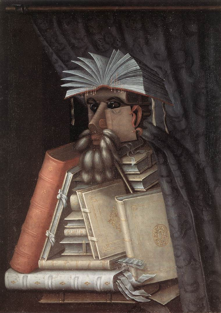 The Librarian 1566 | Giuseppe Arcimboldo | Oil Painting