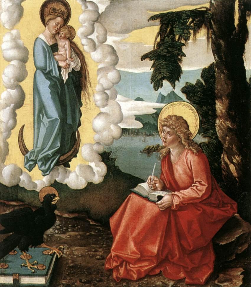 St John At Patmos 1515 | Grien Hans Baldung | Oil Painting