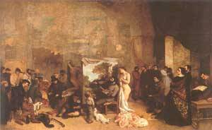 The Painters Studio 1854-55 | Gustave Courbet | Oil Painting